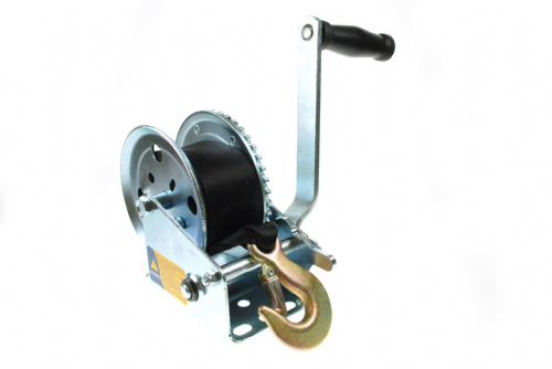 Maypole Boat Trailer Winch 250kg  with Strap and Zinc Plated Hook.
